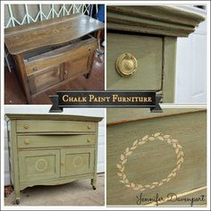 Chalk Paint Furniture  Before and After via decorating-ideas-made-easy.com