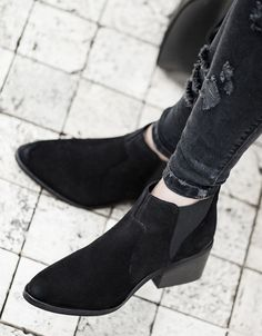 LEATHER country ankle boot - All - Bershka Croatia