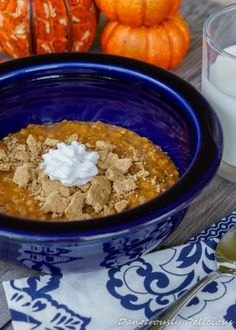 Crock Pot Pumpkin Pie Oatmeal