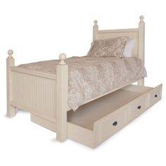 hatfield twin bed with trundle from poshtots