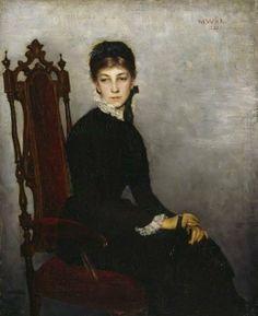 Maria Wiik (Finnish painter) 1853 - 1928 Hilda Wiik Muotokuva (Portrait of Hilda Wiik), 1881 Finnish Women, Helene Schjerfbeck, Female Painters, Prinz Eugen, Anna, Amelie, Singer Sargent, Italian Girls, Portrait Art