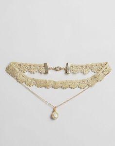 Lipsy | Lipsy Ariana Grande Lace Multirow Choker Necklace at ASOS
