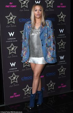 Rita Ora cheekily flashes hint of her behind in VERY short mini skirt