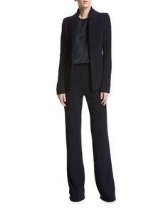 Satin+Cropped+Tank,+Black+and+Matching+Items+by+Brandon+Maxwell+at+Neiman+Marcus.