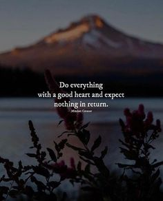 Do everything with a good heart and expect nothing in return life quotes quotes positive quotes quote life quotes and sayings Wisdom Quotes, True Quotes, Words Quotes, Motivational Quotes, Inspirational Quotes, Quotes Quotes, Sayings, Meaningful Quotes, Qoutes