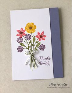 Thanks a bunch - Beautiful Bouquet - Stampin' Up - Fiona Bradley