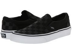 Bought at DSW. Yo I have been living in these. Comfortable, low-profile.  Vans Classic Slip-On™ (Checkerboard) Black/Black - Zappos.com Free Shipping BOTH Ways