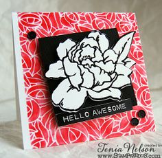 Tenia Nelson used Stampendous Lovely Garden dies to create a card that blooms right off the page!
