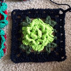 This pattern is an adaptation of my tutorial on the beautiful Babouska Rose blanket. It features the gorgeous 3D roses with leaves plus a granny square frame and 3-chain flat braid join. Before you...