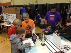 FLL participants test out their robots at the JrFLL Fall Expo in Seattle, WA.