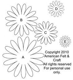 Gerbera daisy template and tutorial