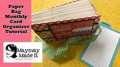 Monthly Birthday Card Organizer:Storage Album Tutorial