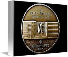 "Patek Philippe Geneve Commemorative Medal Coin (Front) $66 // Style: White Edge Canvas Print; Size: Petite 8"" x 10"" // Visit http://www.imagekind.com/Patek-Philippe-Geneve-PPG_art?IMID=5cad76ca-2632-4430-9e1b-71f73e27c714 for product details."