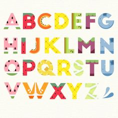 Alphabet with fruit design Free Vector | Free Vector #Freepik #freevector #freefood #freedesign #freesummer #freetemplate
