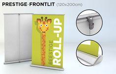 Roll-up 120x200 cm - verkrijgbaar in verschillende kwaliteiten bij drukkerij ZwartOpWit
