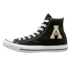 BI Appalachian State University Oxford Unisex Flat Canvas High Top SneakerActivewear 37 Black ** Check out this great product by click affiliate link Amazon.com