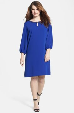 Tahari Chain Detail Shift Dress (Plus Size) available at #Nordstrom
