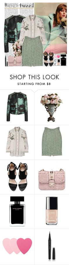 """""""trendy tweed"""" by helena99 ❤ liked on Polyvore featuring Proenza Schouler, Balmain, St. John, Narciso Rodriguez, Chanel, Sephora Collection, Marc Jacobs, women's clothing, women and female"""