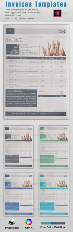 Best Invoice Templates Psd Docx  Free And Premium Download