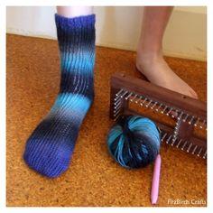 FitzBirch Crafts: Loom Knit Socks