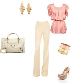 Peach & Ivory, created by knoppiens on Polyvore