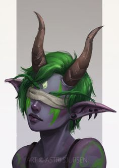 Commission: Demon Hunter II by AstriSjursen