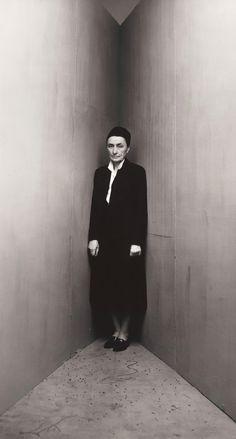 Georgia O'Keeffe photographed by Irving Penn, 1948, New York.