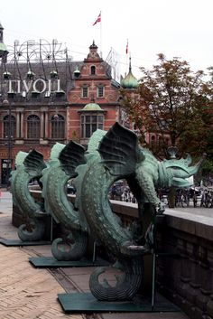 """Copenhagen"" by laura.foto on Flickr ~ Dragons!  It looks like it's close to Tivoli in Copenhagen, Denmark."