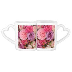 Mixed pink roses by Therosegarden Lovers Mug Sets