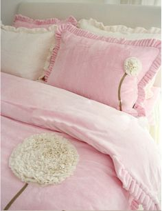 $60 pink floral bedding 4pcs pricess style - ZZKKO