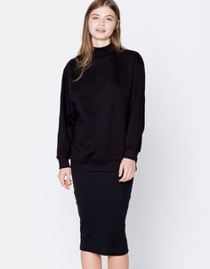 Wide sleeve sweatshirt - Basics - Clothing - Woman - PULL&BEAR Poland