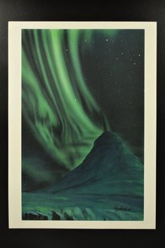 "Northern lights series "" print of the original painting. Signed by the author - limited edition available! Northern Lights, Nature, Painting, Etsy, Vintage, Art, Art Background, Naturaleza, Painting Art"
