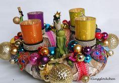 Adventskranz - FROSCHKÖNIGE Adventskranz - ein Designerstück von klinggloeckchen bei DaWanda