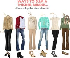 "outfits for the apple shape | Slim an apple shape."" by redheadedstepchild on Polyvore 