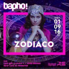 #VEJA The Pub: Bapho! Zodíaco #agenda @paroutudo via ParouTudo http://ift.tt/2bM9VU1 #Raynniere #Makepeace