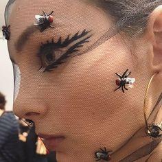 Today's eyeliner at the Dior Haute Couture Show ,  a big Thankyou to my team. #eyeliner #backstage @guidopalau @stephenjonesmillinery @mariagraziachiuri @diormakeup @dior @bureaubetak @michelgaubert @elsadeslandes