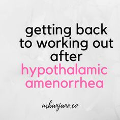 Getting back to working out after recovering from hypothalamic amenorrhea hasn't been an easy road for me. In this video, I'm sharing my experience. I hope that it can help you.