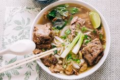 Instant Pot Oxtail Pho Bo (Vietnamese Beef Noodle Soup with Oxtail) | Hungry Wanderlust Beef Noodle Soup, Beef And Noodles, Curry Recipes, Beef Recipes, Pho Spices, South African Recipes, Ethnic Recipes, Oxtail Meat, Pho Broth
