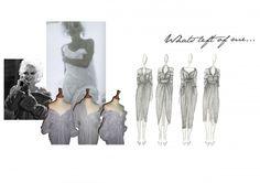 Fashion Portfolio layout - dress drawings; fashion sketchbook // Emily McSharry