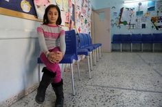 """It was the first new item I got since I left Syria,"" said Aya, 9 years old. Aya is one of the Syrian refugees who is benefiting from Save the Children's clothes vouchers being distributed in host communities. ""I picked this warm grey and pink sweater, two pairs of pants, socks and this pair of boots, I wanted something warm because the weather is starting to get cold"" Having arrived to Jordan in June this year, Aya owned minimal winter clothing."