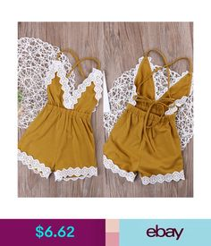 Romper Trousers Toddler Kid Baby For Girl Summer Clothes Cotton Jumpsuit Shorts♯ - Jumpsuits and Romper Baby Outfits, Girls Summer Outfits, Little Girl Outfits, Little Girl Fashion, Toddler Fashion, Summer Girls, Toddler Outfits, Kids Outfits, Kids Fashion
