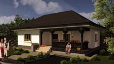 Model 70mp   Case de top House Architecture Styles, Mud House, Tiny House, Village Houses, Building Plans, Traditional House, Design Case, Beautiful Homes, House Plans