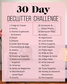 Exactly How I Plan To Declutter My Apartment In 30 Days As I have mentioned before, I struggle with the fact that I am just not inherently an organized person. While, yes, I successfully manage to use a bullet journal and keep my work life under Declutter Home, Declutter Your Life, Declutter Bedroom, Clean Bedroom, Bedroom Small, House Cleaning Tips, Cleaning Hacks, Cleaning Challenge, Spring Cleaning Schedules