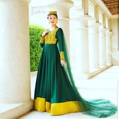 In  with this #beautiful #green #afghan #dress! #favorite #color