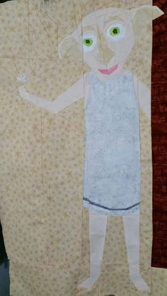 """Dobby the House Elf by Esther Wheat  20"""" by 35"""" Paper Pieced an addition to The Project of Doom Free from fandominstitches.com Free for personal and non-profit use only"""