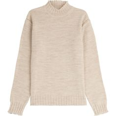 Alexa Chung for AG Scotland Wool Turtleneck Pullover (2.595 NOK) ❤ liked on Polyvore featuring tops, sweaters, jumper, beige, pink fuzzy sweater, ribbed turtleneck, turtle neck sweater, chunky sweater and ruffle sweater