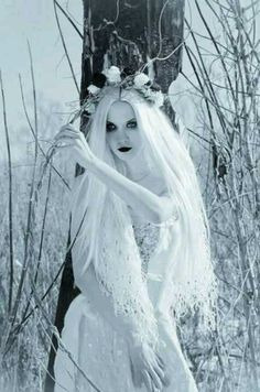 'She stood in the snow, effervescent, all pale skin and blonde hair, clad in white and bathed in moonlight. She should have looked angelic; instead she looked like a corpse, freshly raised from the grave, frosted in ice and darkness, swaying precariously in a graveyard.' #chasingazrael