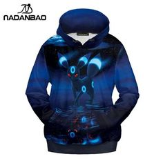 Pokemon Vaporeon Eevee Graphics Kawaii Evolve Pullover Sweatshirt Hoodie Sweater
