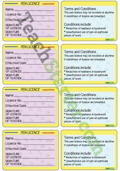 Pen Licences Teaching Resource