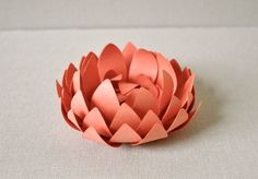 Coral/guava paper lotus  Home decor office decor by imeondesign, $18.00
